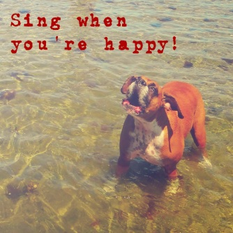 sing when youre happy
